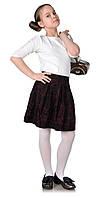 Детская юбка-бантовка розы бордо