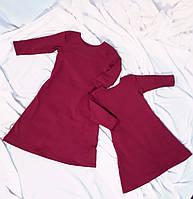 Сукня для дівчинки з двонитки трапеція  різні кольори Платье для девочки с карманами трапеция двунитка цвета
