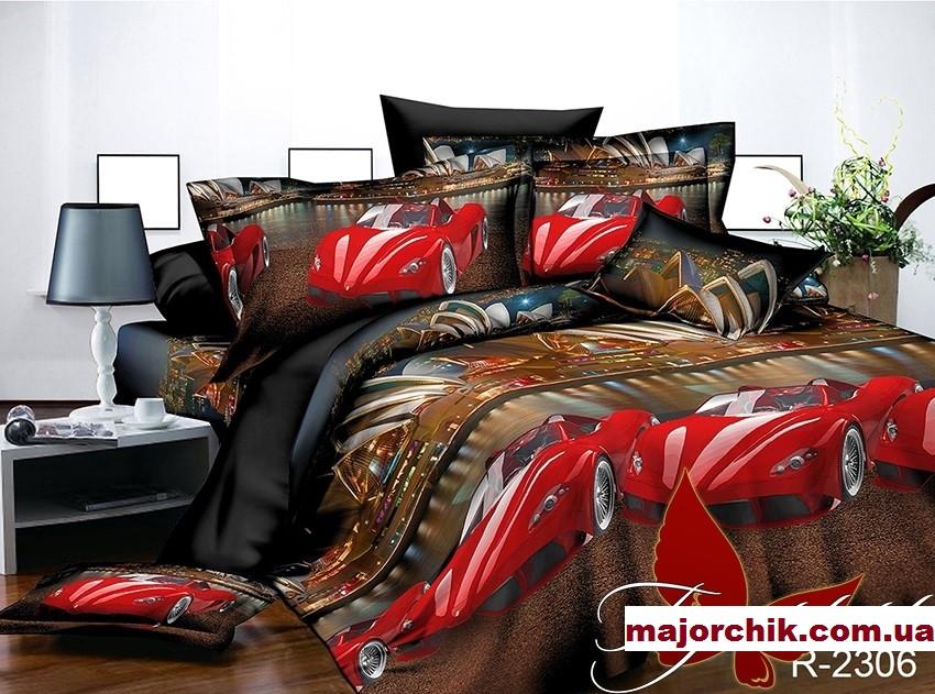 Комплект постельного белья Феррари Гонки. 1,5 спальный комплект 150х220