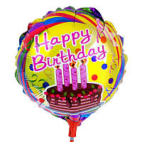 """Міні Кульку на паличці """"Happy Bithday"""" тортик"""