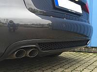 Накладка на задний бампер диффузор Audi A4 B8 универсал 2012-2015 г.в. рестайлинг