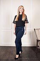 Женские синие брюки на байке Аманда, фото 1