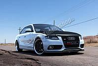 Диффузор переднего бампера Audi A4 B8 2007-2012 г.в. дорестайлинг