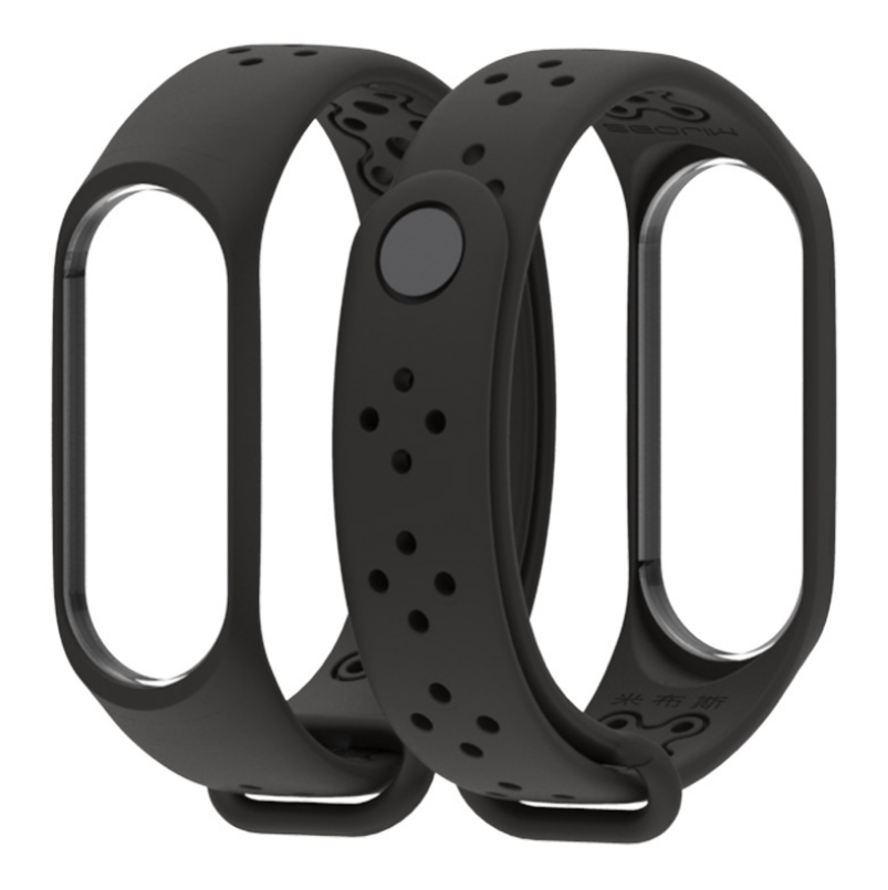 Ремешок Xiaomi Mi Band 4 / 3 MiJobs Sport Light силиконовый Черный [1703]