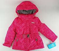 Куртка зимняя для девочек. 122 см Модель Хризантемы Малиновый Полиэстер Baby Line Украина