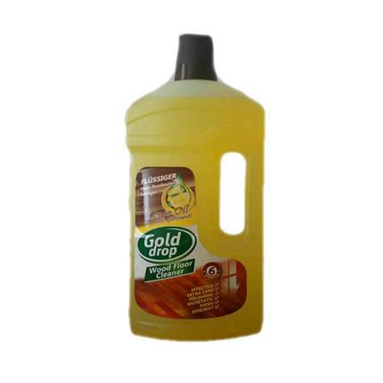 Средство для мытья деревянных полов Gold Drop wood floor cleaner  1 л лимон, фото 2