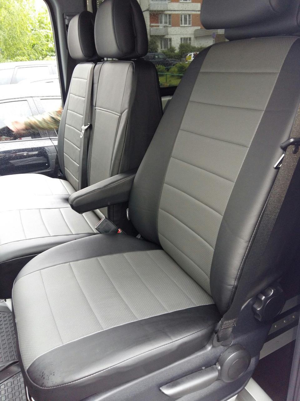 Авточехлы модельные чехлы Эко-кожа Комбинированные Volkswagen LT 46  Фольксваген ЛТ  Оригинал 1+1, 1+2