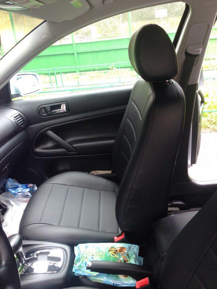 Авточехлы модельные чехлы Эко-кожа Комбинированные Volkswagen Passat  B 5+  Фольксваген Пассат Б 5+  Оригинал