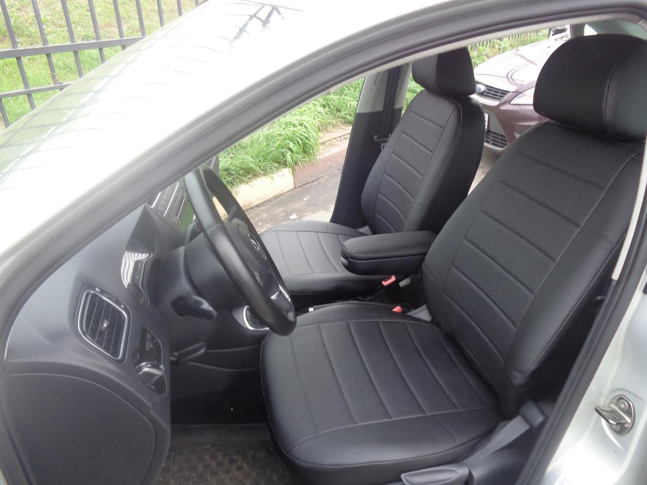 Авточехлы модельные чехлы Эко-кожа Комбинированные Volkswagen Polo 4  Фольксваген Поло 4 Оригинал