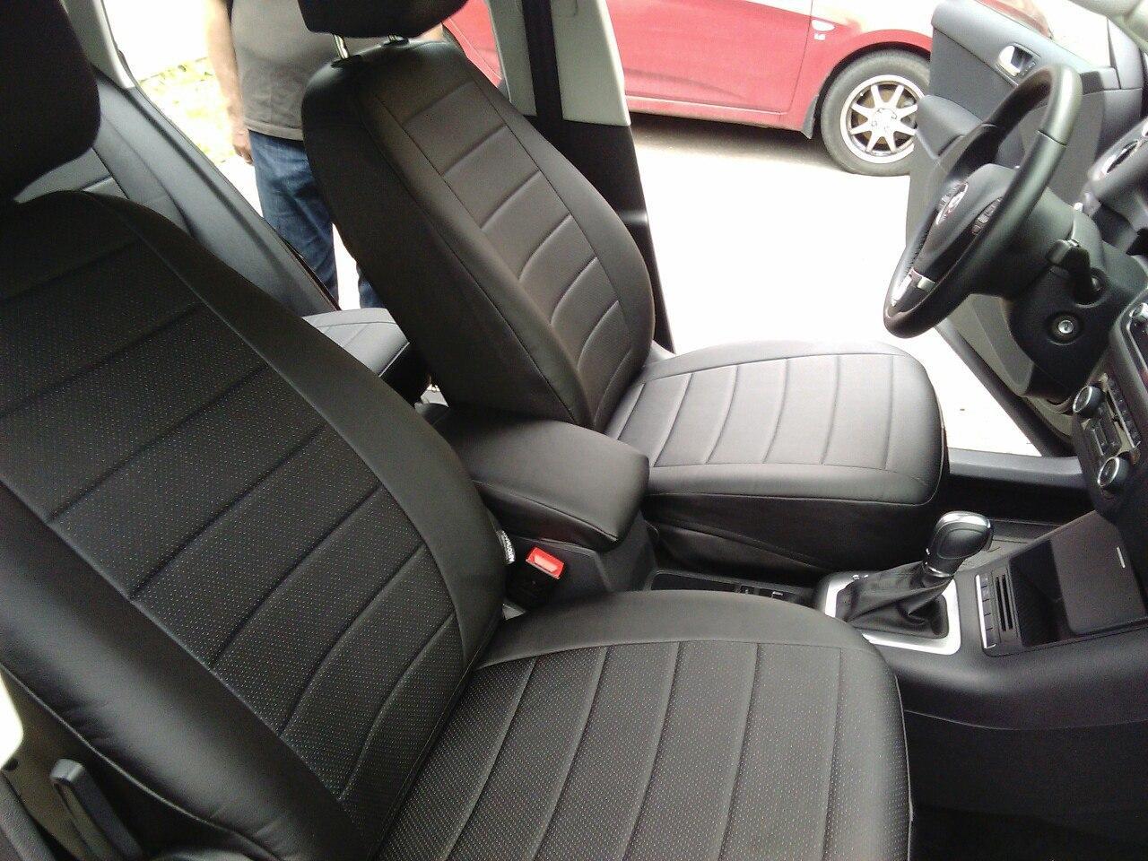 Авточехлы модельные чехлы Эко-кожа Комбинированные Volkswagen Sharan Фольксваген Шаран  Оригинал