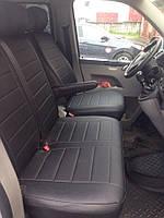 Авточехлы модельные чехлы Эко-кожа Комбинированные Volkswagen Т5  Фольксваген Т 5  Оригинал 1+1, 1+2, фото 1