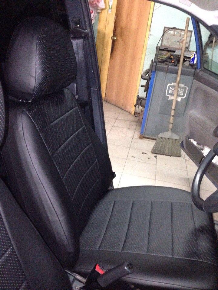 Авточехлы модельные чехлы Эко-кожа Комбинированные ZAZ Forza  ЗАЗ Форза Оригинал