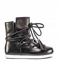 0eadfa1f39fe Женские зимние ботинки сапоги Moon Boot Far Side Mid Raw Black ( 37 )