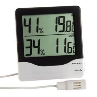 305013. Термогигрометр цифровой TFA, внешний проводной датчик, 110х101х20 мм