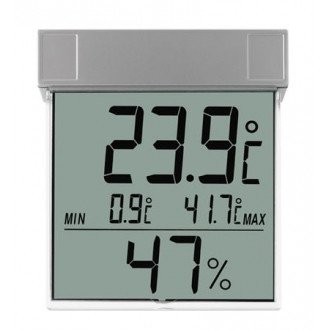 305020. Термогигрометр цифровой оконный TFA Vision, 105х97х23 мм