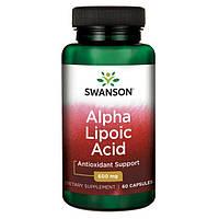 Лечени диабетической нейропатии - Альфа-липоевая кислота / Alpha Lipoic Acid, 600 мг 60 капсул