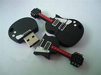 Флешка Usb гитара черно белая 16 гб