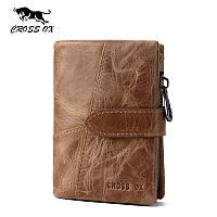 Кошелек портмоне мужской кожаный CROSS OX WL105M (коричневый)