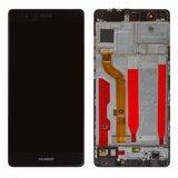 Дисплей (экран) для Huawei P9 EVA-L29 с сенсором (тачскрином) и рамкой черный