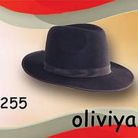 Фетровая  мужская шляпа  с большими полями  7,2 см