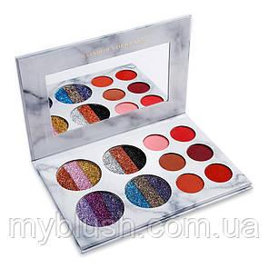 Тени для глаз Glamierre Rainbow Your Eyes Glitter and Matte (18 цветов)