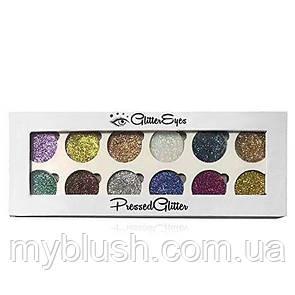 Тени для глаз Glamierre Rainbow Your Eyes Glitter (12 цветов)
