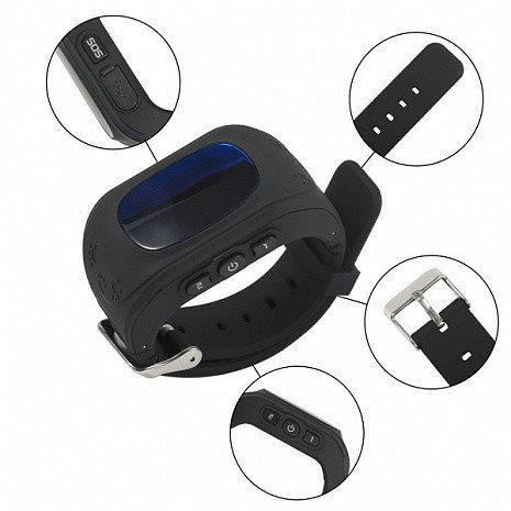 Детские умные смарт-часы Q50 с GPS трекером. Smart Watch черные
