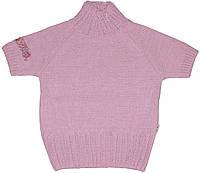 Кофточка с коротким рукавом для девочки, розовая с блестками, рост 98 см, ТМ Лютик