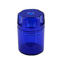 Точилка Herlitz Canister с контейнером синяя (8680001B)