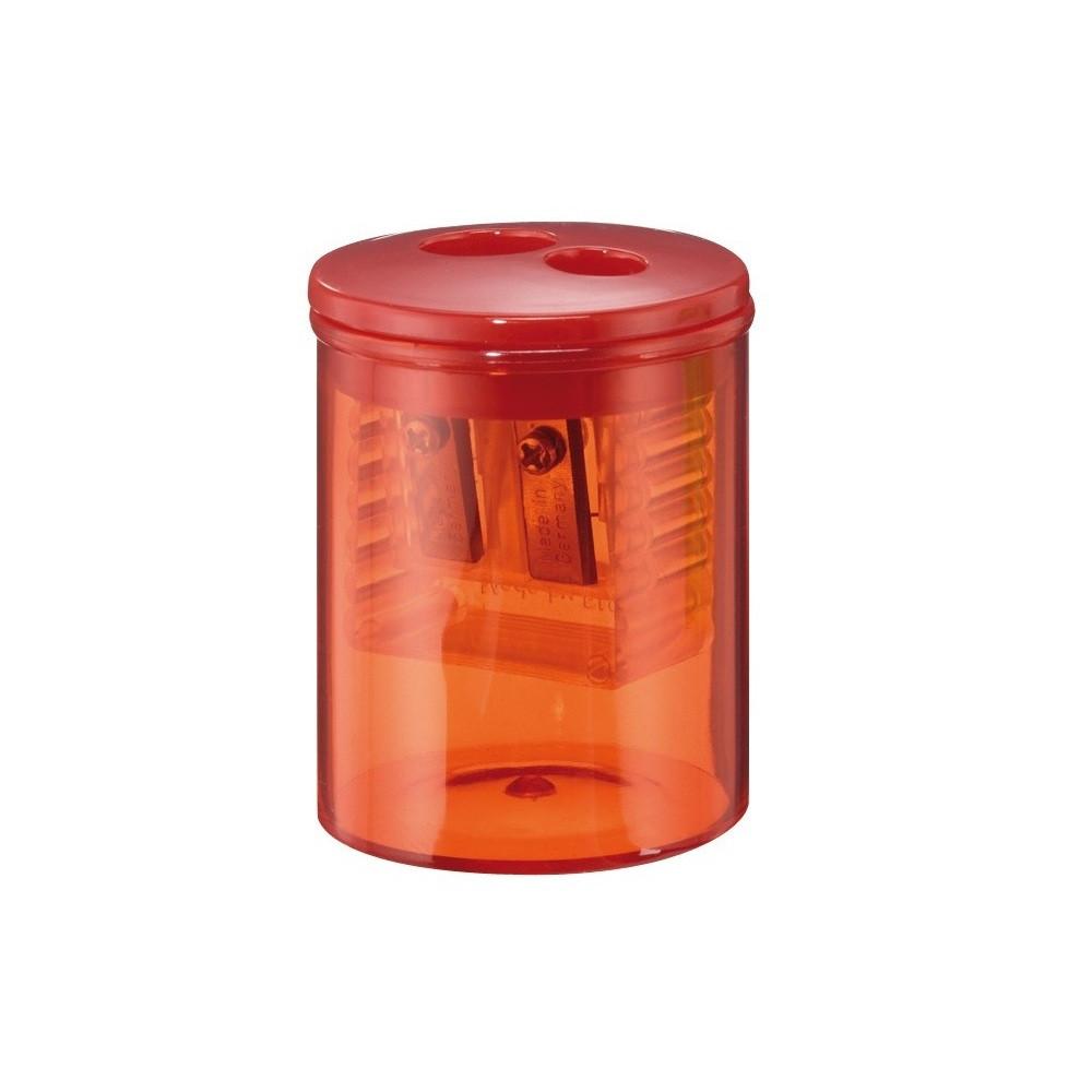 Точилка Herlitz Round с контейнером 2 отверстия красная (8680100R)