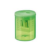 Точилка Herlitz Round с контейнером 2 отверстия салатовая (8680100G)