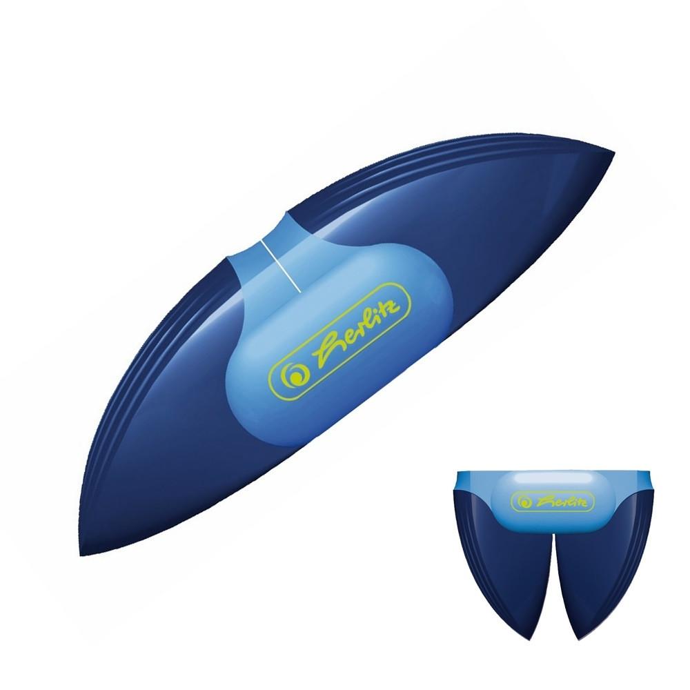 Точилка Herlitz My.Pen Sport с контейнером 2 отверстия складная синяя (11309341S)