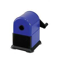 Точилка Herlitz механическая с контейнером синяя  (1601194)