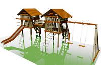 """Игровые домики в площадке """"Близнецы"""" для детей (540х900)"""