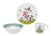Детский набор посуды LIMITED EDITION MULTI COW, 3 предмета