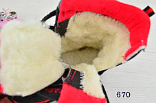 Термо Ботинки детские зимние с мехом  из эко-кожи на мальчика синие, фото 2