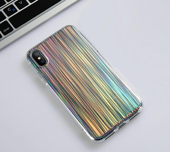 Силиконовый лазерный чехол для Apple iPhone X/XS