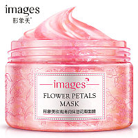 Маска для лица гелевая с лепестками роз IMAGES Flower Petals Mask Rose (120г)