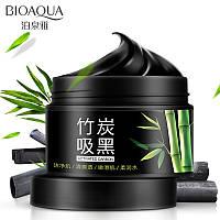 Маска пленка для лица с бамбуковым углем BIOAQUA Bamboo Charcoal Translucent Washing Mask (140г)