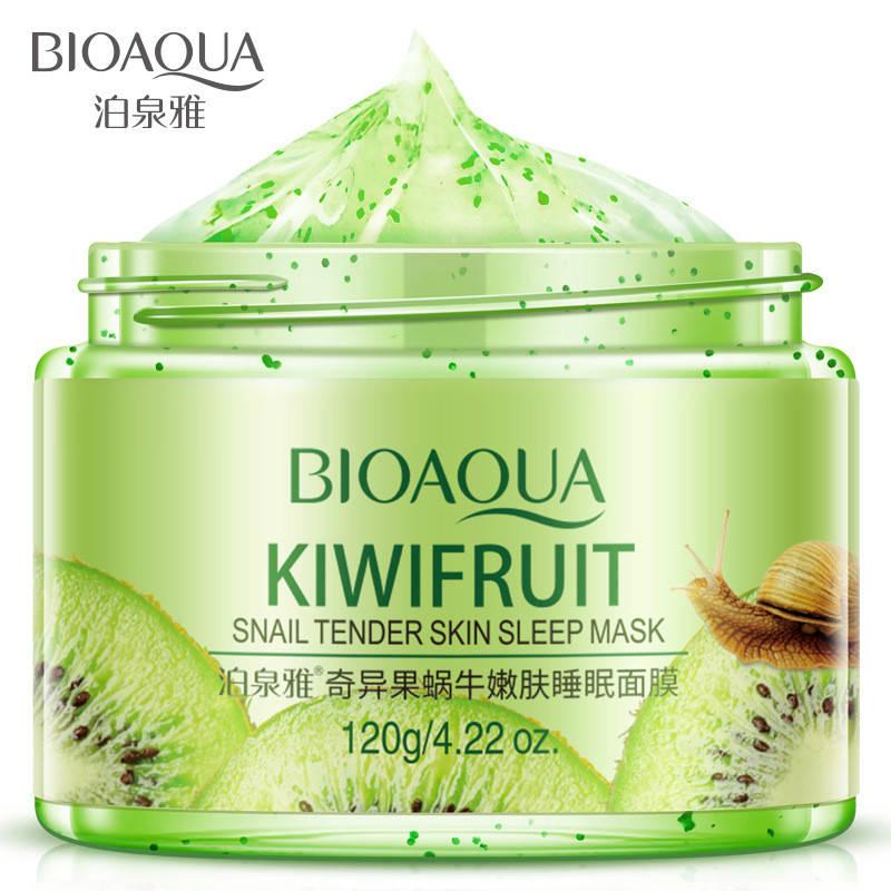 Маска гелевая ночная с киви и муцином улитки BIOAQUA Kiwifruit Snail Tender Skin Sleep Mask (120г)