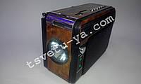 Фонарь радио приемник переносной NewKanon KN-208 Rec с FM, AM, USB, Cardreader мощный светодиодный