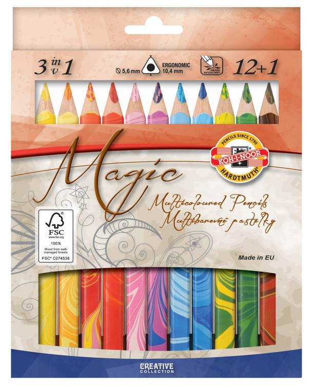 Карандаши Magic,12 цветов+блендер Koh-i-Noor