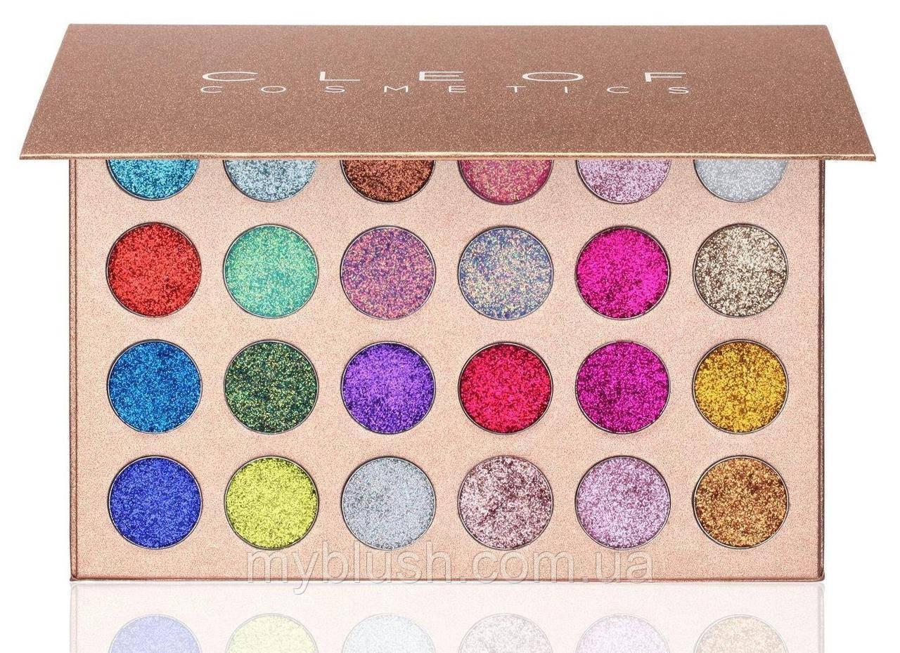 Тени для глаз CLEOF Cosmetics Glamierre Unicorn Glitter Palette Eyeshadow Palette (24 цвета)