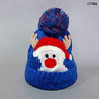 """Теплая шапка """"Олень"""" унисекс. 46-50 см, фото 1"""