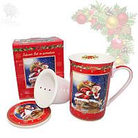 Кружка-заварник с керамическим ситом «Christmas Time», 350 мл