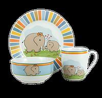 Детский набор посуды LIMITED EDITION ELEPHANTS 1, 3 предмета