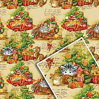 Новогодняя подарочная упаковочная бумага №УП-508