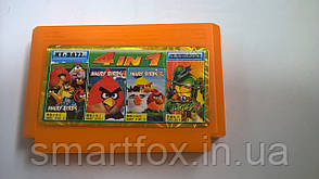 KT 8477 (4 in 1) ANGRY BIRD 1,2,3 + TURTLES 4