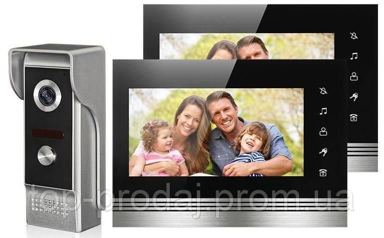 Домофон V70K-M4, Видеодомофон, Домофон с видеосвязью, Видеодомофон с цветным экраном, Видеозвонок с камерой
