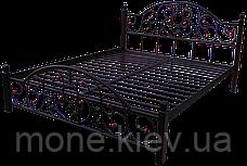 Кровать Адель из металлических труб с элементами ковки, фото 2